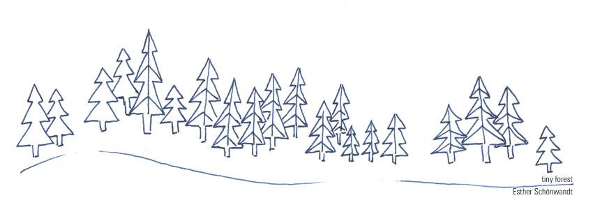 Zeichnung von Winterwald