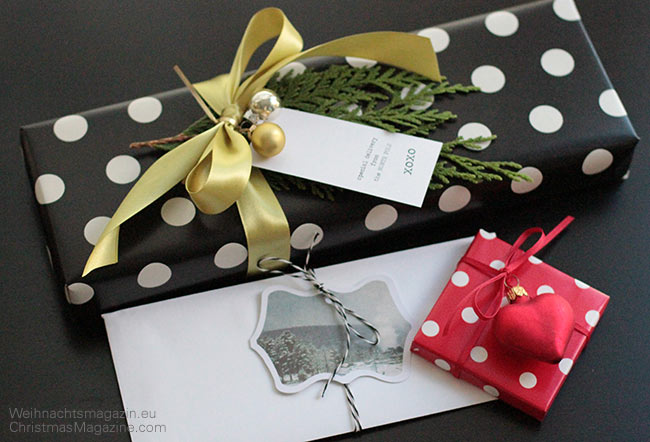 zweite runde weihnachtsgeschenke umweltfreundlich verpacken und dekorieren. Black Bedroom Furniture Sets. Home Design Ideas
